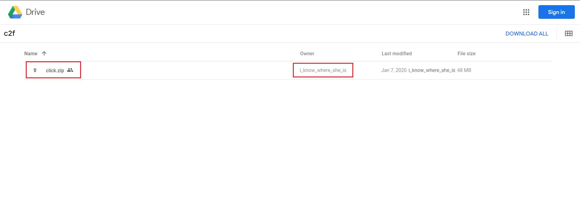 在 Google Drive 分享的文件