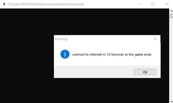 click.exe 运行时截屏